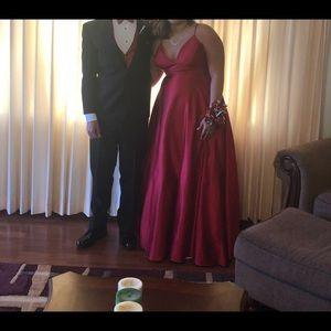 Satin Red Prom Dress